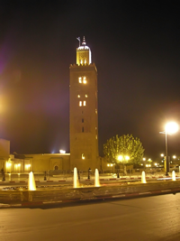 Koutoubia-by-night